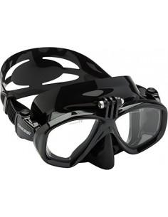 Cressi adultes masque de plongee Action Standard Noir Noir